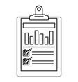 checklist graph icon outline style
