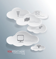 cloud for Abstract business infographic background vector image vector image