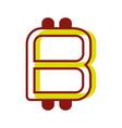 color symbol icon bitcoin money currency vector image vector image