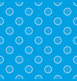 cookies pattern seamless blue vector image vector image