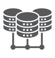 data center glyph icon data and analytics vector image vector image