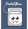 dental floss character icon vector image