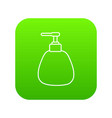 dispenser pump cosmetic icon green vector image vector image