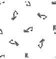 excavator pattern seamless black vector image vector image