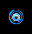 eye ball cam monitor logo vector image