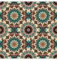 Flower Pattern Boho Brown Blue Intricate vector image vector image
