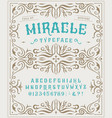 font miracle craft retro vintage typeface design vector image vector image