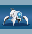 futuristic robot toy spider with lamps and sensors vector image vector image