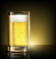 glass of beer standing on a table vector image vector image