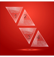 glass triangle infographic vector image vector image