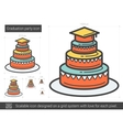 Graduation party line icon vector image vector image