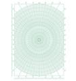 green polar coordinate circular grid graph paper vector image vector image