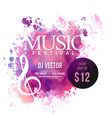 grunge style abstract musical background vector image vector image