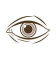 hand drawing eye human expression image vector image