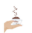hand with coffee vector image