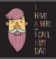 hero dad five vector image vector image