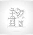 hookah cafe detailed line vector image
