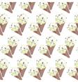 Ice cream Vanilla waffle cones vector image vector image
