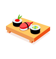 icon sushi vector image