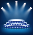 Illuminated Festive Stage Podium with Lamps on vector image vector image