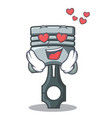 in love piston isolated in the cartoon shape vector image vector image