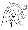 ink hand drawn bear head vector image vector image