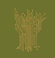microelectronics circuits circuit board green vector image vector image