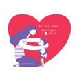 mom hugging her child boy holding teddy bear and vector image vector image