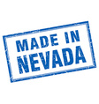 Nevada blue square grunge made in stamp vector image vector image