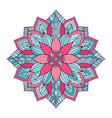 ornamental floral mandala carpet ornament pattern vector image vector image