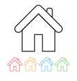 outline home icon isolated on grey background vector image vector image