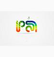 pa p a rainbow colored alphabet letter logo vector image