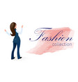 poster fashion collection for office workers vector image