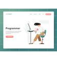 programmer concept modern design concept web vector image vector image