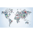 Property service icons World map vector image
