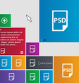 PSD Icon sign buttons Modern interface website vector image vector image