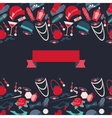 retro 1920s style seamless pattern vector image