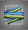 rwanda flag official national rwandan 3d vector image