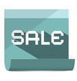 Sale Title on Paper Sheet vector image