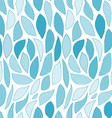 Seamless Blue Leaves Pattern vector image