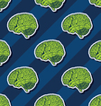 seamless brain pattern vector image vector image
