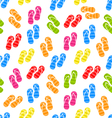 Seamless Pattern Colorful Pairs of flip-flops vector image vector image