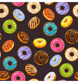 seamless pattern with colorful glaze and sprinkles vector image vector image