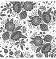 Seamless vintage pattern with decorative flowers vector image vector image