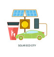 solar energy eco city vector image vector image
