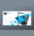 square brochure design blue corporate business vector image