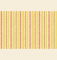 striped orange yellow pattern seamless watercolor vector image vector image
