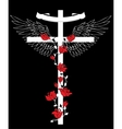 The Cross with wings vector image vector image