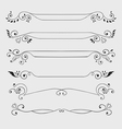 Vintage text dividers vector image