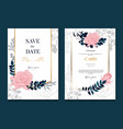 websimple elegant rose wedding frames card and vector image vector image